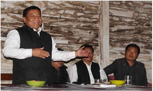 Forest minister Th. Shyamkumar rewards Khamasom village for protecting virgin forest