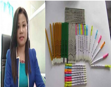 Monalisa, a medical practitioner turned entrepreneur makes eco-friendly pens and pencils