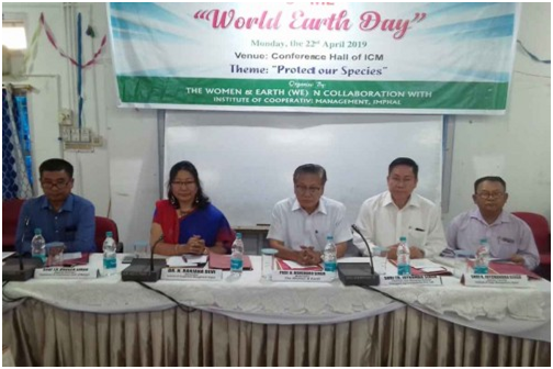 Dignitaries during the Earth Day celebration at the hall of ICM, Lamphelpat