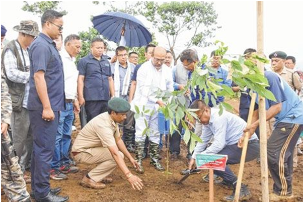 Biren launches CM's Green Manipur Mission